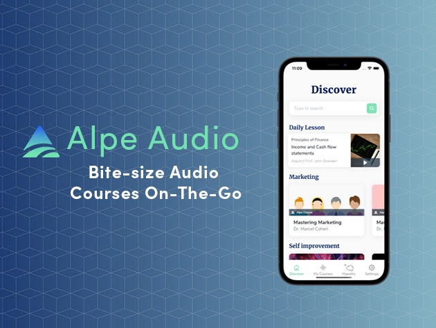 Alpe Audio: Bite-Size Audio Courses On the Go (2-Yr Subscription) for $49