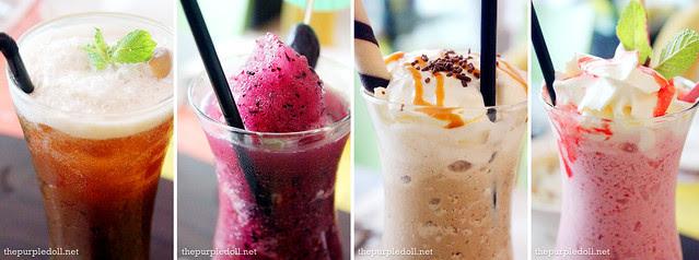 Tamarind Iced Tea P120 Grape Shake P165 Mocha Java Chip P225 Strawberry Kiss P235