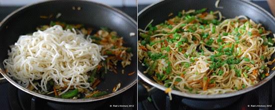 How to make hakka noodles step4