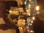 マヨール広場でカンパイ