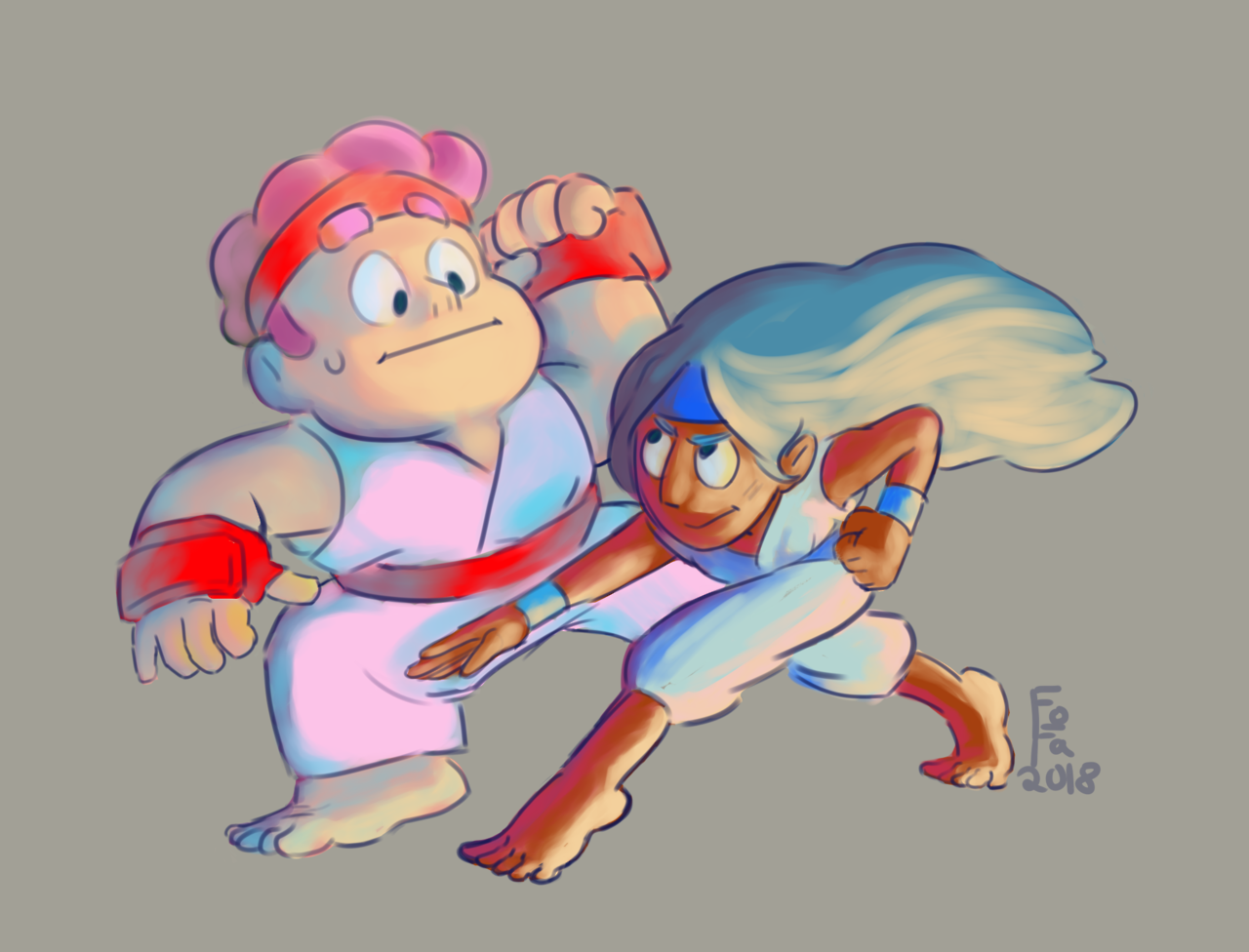 Steven and Connie fighting for @pokemonmasterjames
