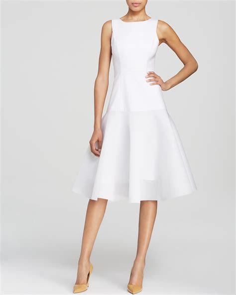 Black Halo Dress   Vogue Sleeveless Mesh Hem Fit and Flare