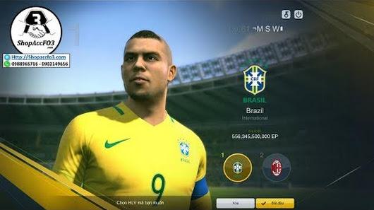 Mua Bán Acc Fifa Online 3 VIP | 556 Tỷ Ronaldo Béo UL- R. Gullit WL& P.  Vieira WL |Shopaccfo3.com