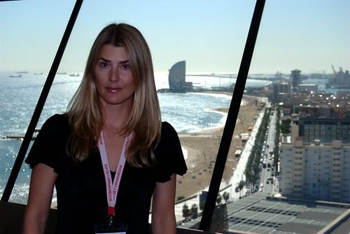 Maria på sitt kontor