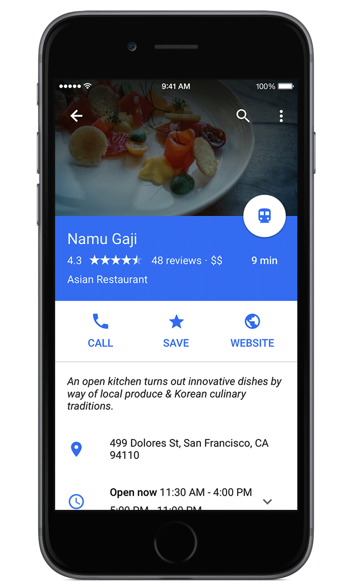 Google Maps For Ios Revamped With Androids Material Design Ui
