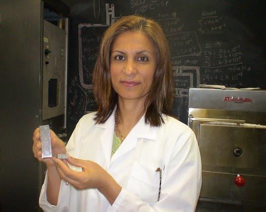 revolutionary material, spongy metal, metal foam, dr. afsaneh rabiei, material, metal, life-saving material, building material,