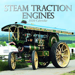 """The Gifted Stationery 2020 Wall Calendar - Steam Traction Engines, 12"""" 16-Month with Reminder Stickers"""