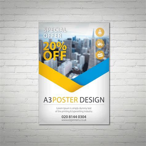 A3 Poster Printing   ez printers