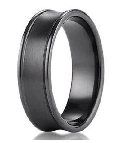 7.5mm Men's Benchmark Black Titanium Wedding Ring With