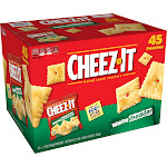 Cheez It Baked Snack Crackers, White Cheddar - 45 pack, 1.5 oz pouches