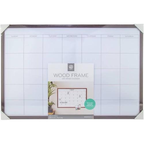 Google Express - Ubrands Calendar Dry Erase Board with Wood Frame ...