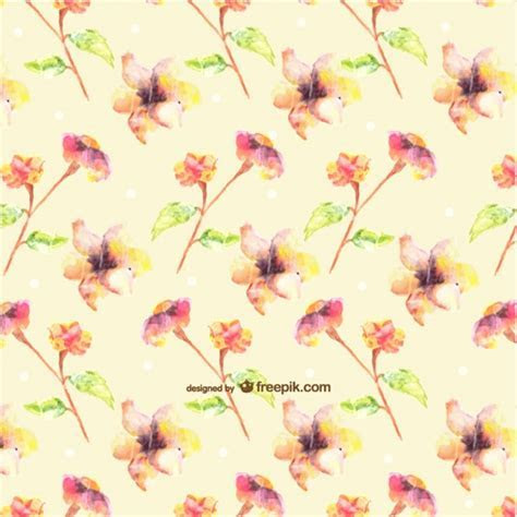 Seamless watercolor flowers design Vector   Free Download