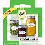 Ball Dissolvable Canning Jar Labels, White - 60 count