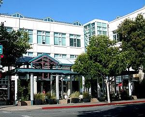 Facebook headquarters in downtown Palo Alto, C...
