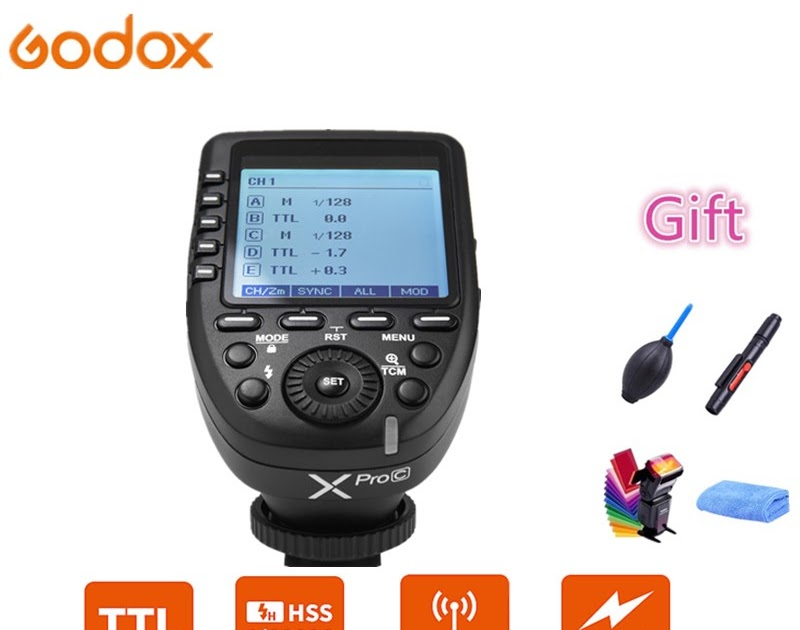 Godox Xpro-O for Olympus Panasonic TTL Wireless Flash Trigger 1//8000s HSS TTL-Convert-Manual Function Large Screen Slanted Design 5 Dedicated Group Buttons 11 Customizable Functions