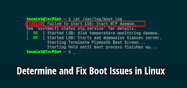 How to Determine and Fix Boot Issues in Linux
