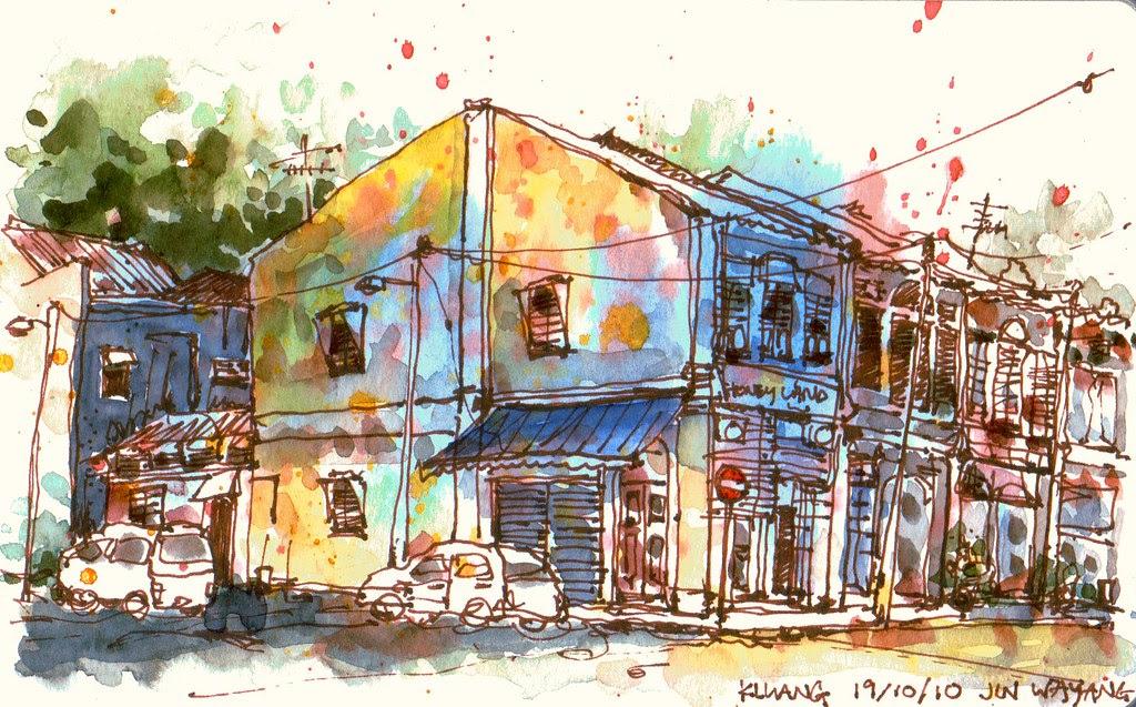 Shophouse @ Jalan Wayang, Kluang,, Malaysia