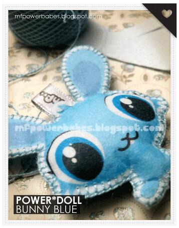 power*doll bunny blue
