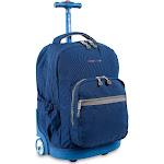 """J World Sunrise 18"""" Rolling Backpack - Indigo"""