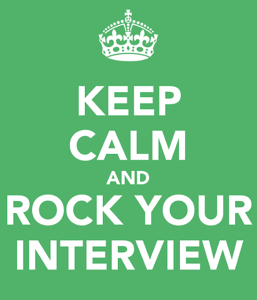 Prepare to ROCK the New Interview