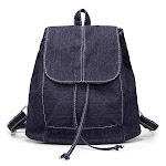 Womens Denim Backpacks, Small, Various Color Washes, Dark Blue from Gifts Are Blue