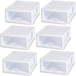 Sterilite 16 Quart Clear Plastic Stacking Storage Drawer Container Box (6 Pack) at Spreetail (VMinnovations | VM Express)
