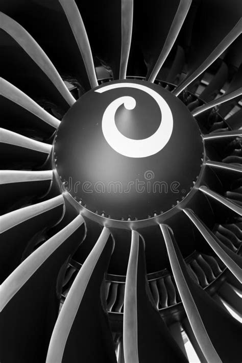 Close-up Of A Turbofan Jet Engine Stock Photo - Image of
