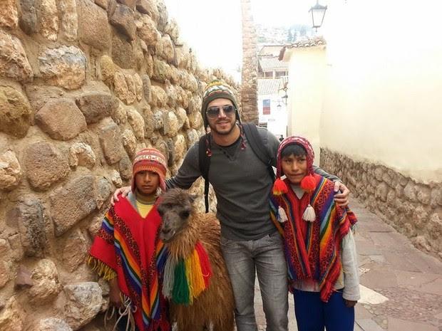 Maycon Mendonça decidiu passar a virada em Cusco, Peru (Foto: Arquivo pessoal)
