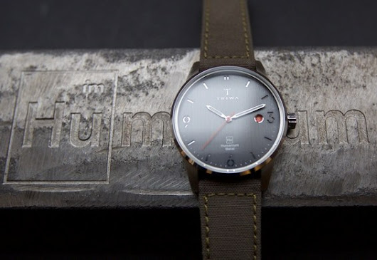 Swedish Watch Brand Triwa Launches Online Crowd-funding Campaign for Their Humanium Metal Watch Made from Destructed Illegal Firearms