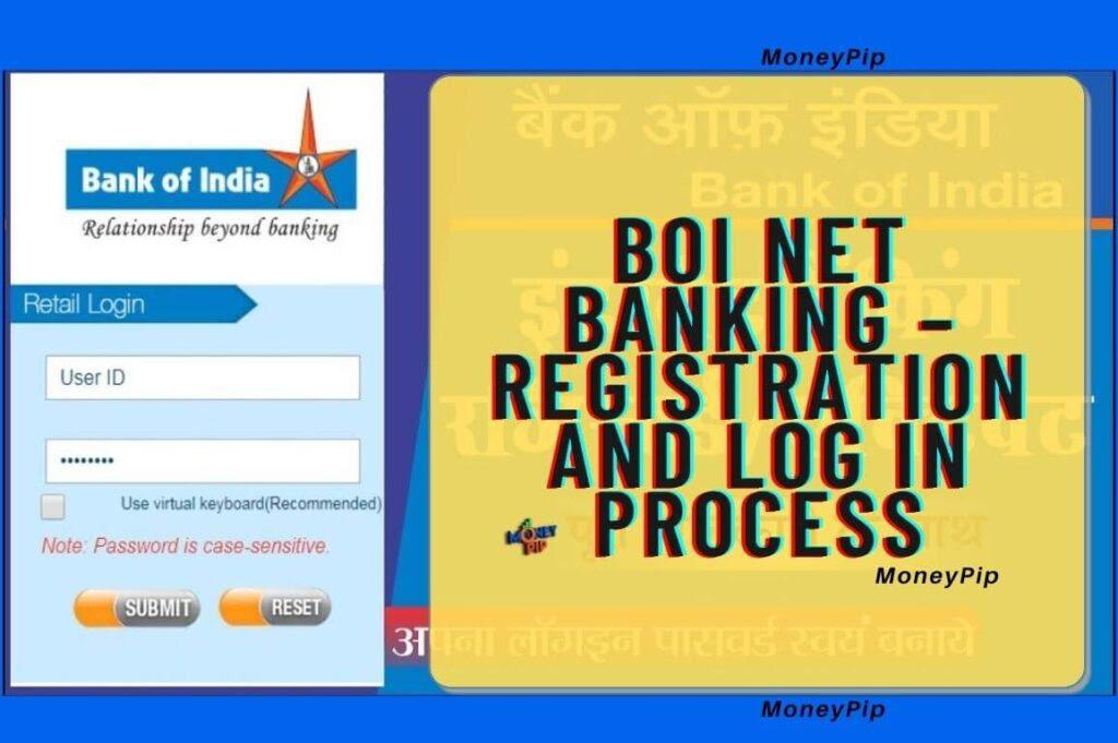 BOI NET बैंकिंग रजिस्टर