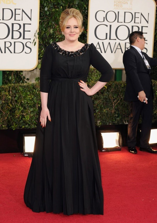 8 Adele wearing Burberry to the 70th Annual Golden Globe Awards Los Angeles