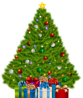 Extra Large Christmas Tree with Gifts PNG Clip Art Image