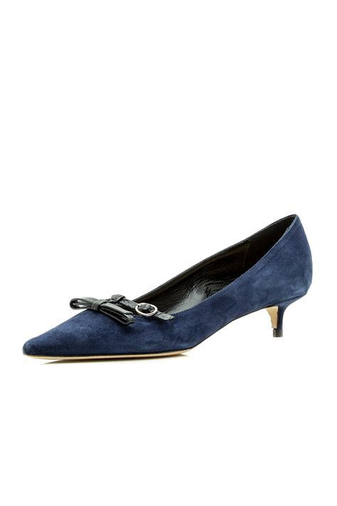 Navy Blue Kitten Heels   Is Heel