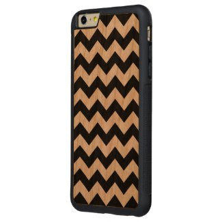 Black and White Zigzag Carved® Cherry iPhone 6 Plus Bumper