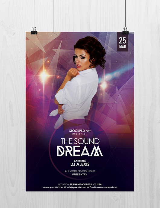 The Sound Dream - Freebie PSD Flyers Templates - Stockpsd.net - Free PSD Flyers, Brochures and more