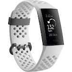 Fitbit Charge 3 - Activity Tracker with Heart Rate Monitor - Special Edition - White Frost