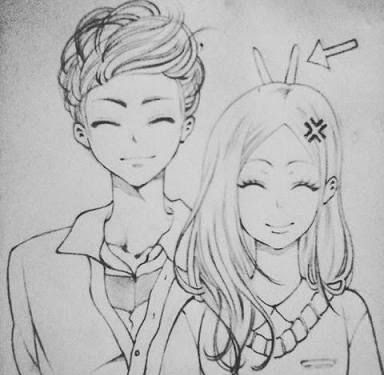 Pencil Boy And Girl Best Friends Drawing