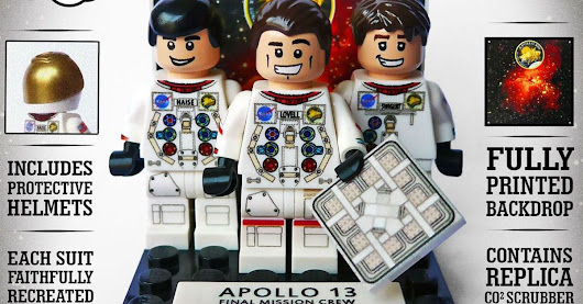 The Apollo 13 astronauts have been immortalized in Lego