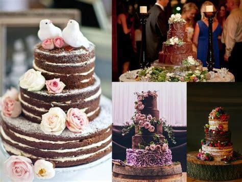 Rustic Chocolate Wedding Cakes   Rustic Wedding Chic