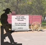 Rancher Resting Silhouette Yard Art Woodworking Pattern - fee plans from WoodworkersWorkshop® Online Store - cowboys,leaning,restings,fences,ranchers,cowhands,cattleman,yard art,painting wood crafts,drawings,plywood,plywoodworking plans,woodworkers projects,workshop blueprints