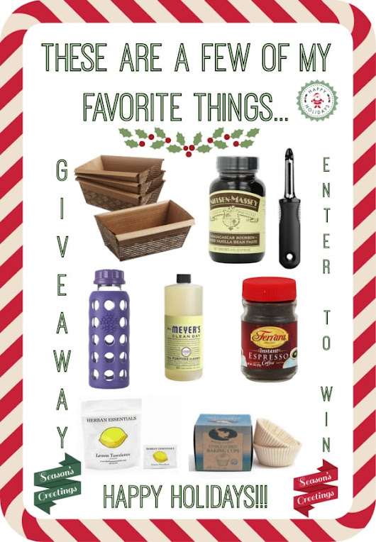 Food Bloggers Favorite Things Giveaway - Nutmeg Nanny