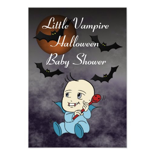 Lil Vampire Baby Shower Invitation Cards