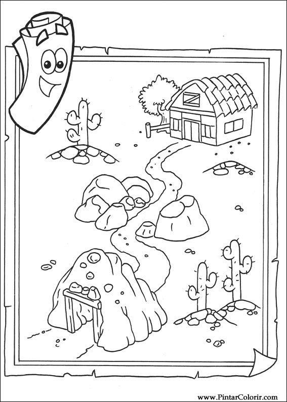 Desenhos Para Pintar e Colorir Dora A Aventureira  Imprimir Desenho 010