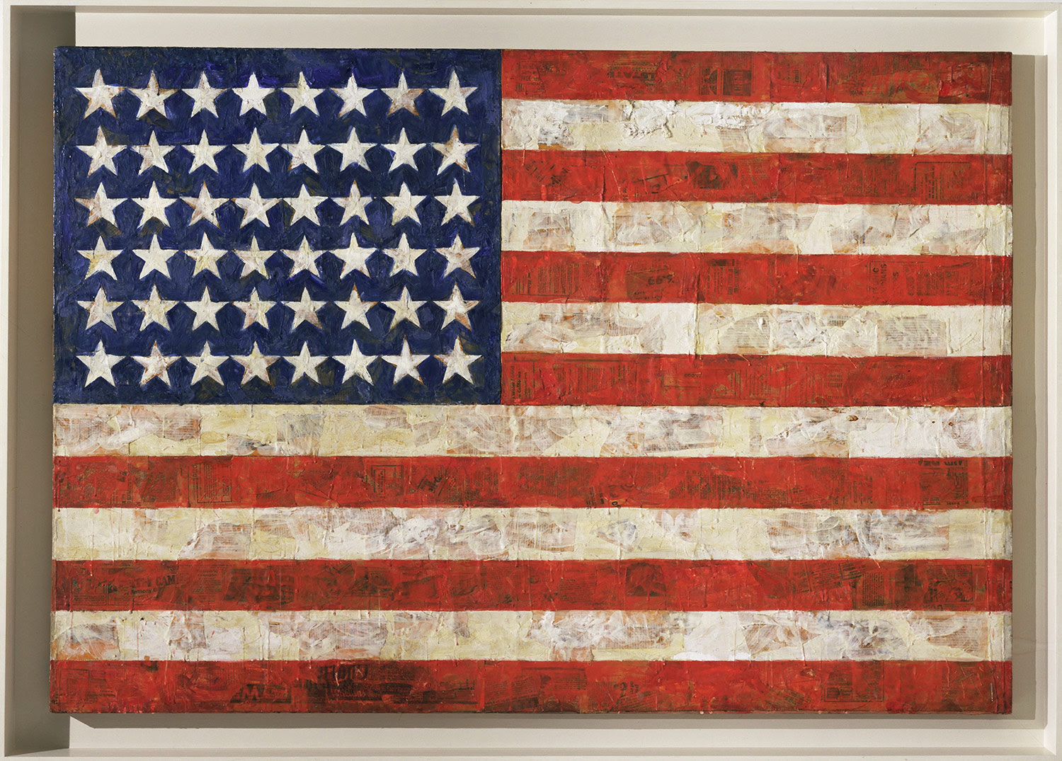 American flag by Jasper Johns