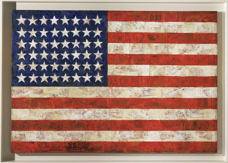 American flag by Jasper Johns