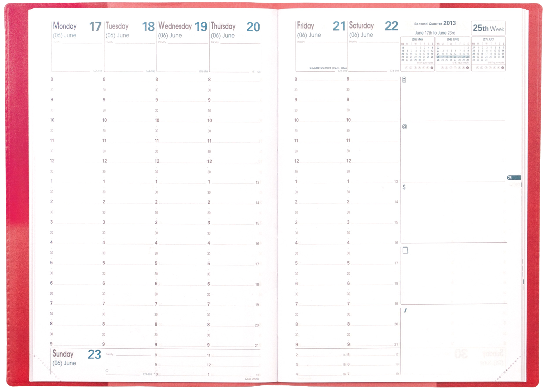 Quo Vadis Weekly Planner