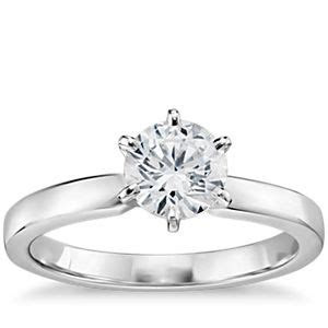 1 Carat Preset Six Prong Low Dome Comfort Fit Solitaire