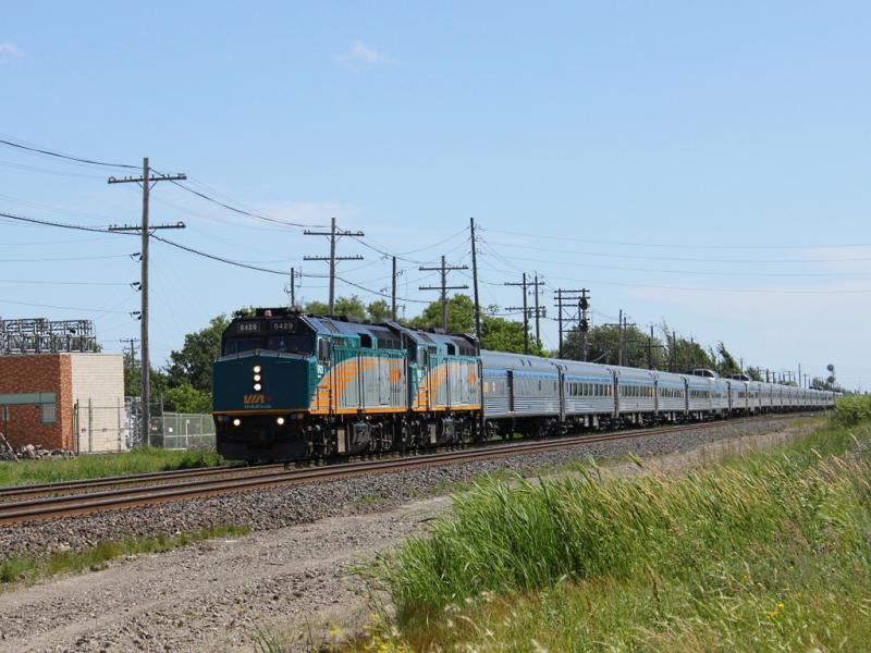 VIA 6429 in Winnipeg