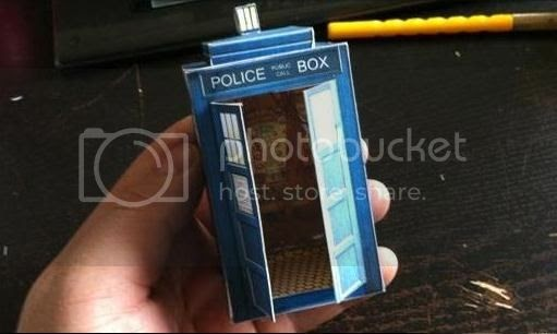 papermau doctor who tardis paper model with interior by