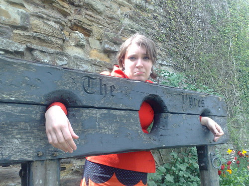 In the stocks at Ypres Tower Rye